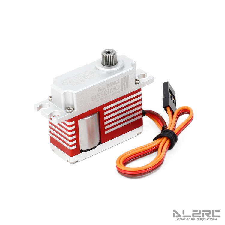 ALZRC - BLS521MG Medium Digital Metal Locked Rudder Servo - Brushless - Silver