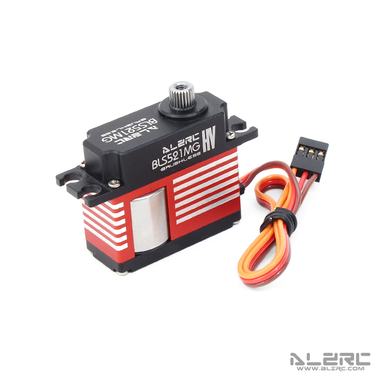 ALZRC - BLS521MG Medium Digital Metal Locked Rudder Servo - Brushless - Black