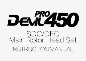 ALZRC - DEVIL 450 SDC/DFC Main Rotor Head Set Instruction Manual