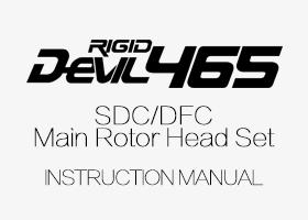 ALZRC - DEVIL 465 SDC/DFC Main Rotor Head Set Instruction Manual