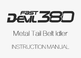 ALZRC - Devil 380 FAST Metal Tail Belt Idler Instruction manual