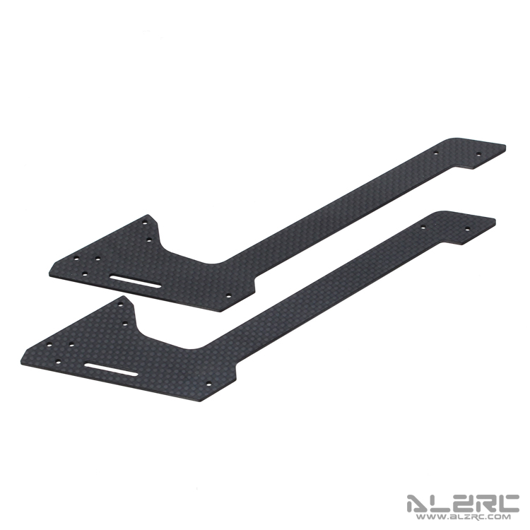 ALZRC - Devil 500 RIGID Carbon Fiber Main Frame - Lower - 1.5mm