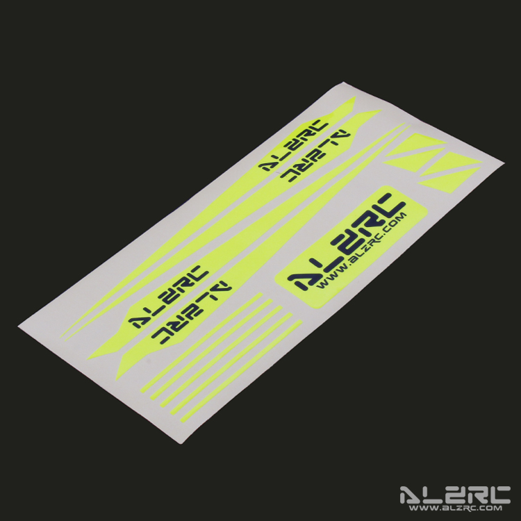 ALZRC - Devil 505 FAST Carbon Fiber Landing Skid Color Sticker - Yellow