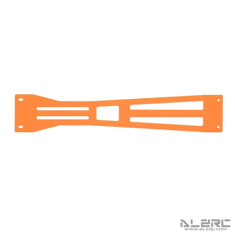 ALZRC - N-FURY T7 Printed Carbon Fiber Bottom Plate - 2.0mm - 3° - Orange