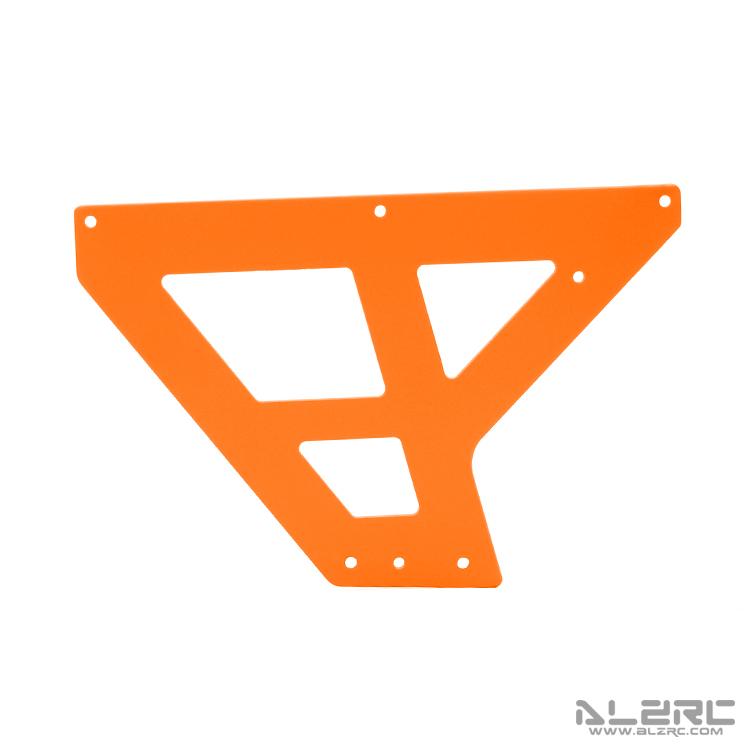 ALZRC - N-FURY T7 彩绘碳纤机身下侧板 - 前 - 2.0mm - 3° - 橙