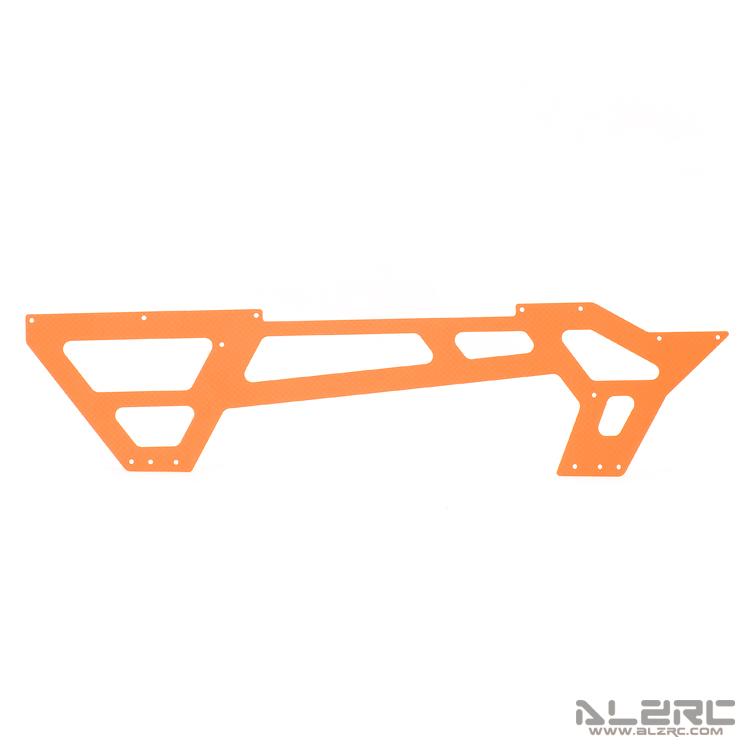 ALZRC - N-FURY T7 Printed Carbon Fiber Under Main Frame - 2.0mm - 3° - Orange