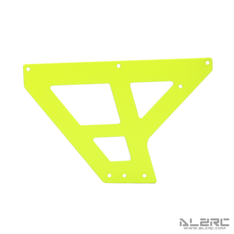 ALZRC - N-FURY T7 Printed Carbon Fiber Under Main Frame - Front - 2.0mm - 3° - Yellow